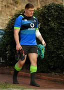 12 June 2018; Tadhg Furlong arrives for Ireland rugby squad training at St Kevin's College in Melbourne, Australia. Photo by Brendan Moran/Sportsfile