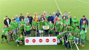13 June 2018; The Irish ParaHockey ID team today announced Off The Ball as their shirt sponsor ahead of the European ParaHockey Tournament in Barcelona. Pictured is the The Irish ParaHockey ID team with their families and coaches at the Three Rock Rovers HC, Grange Road in Rathfarnham, Dublin. Photo by Harry Murphy/Sportsfile