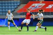 12 June 2018; Isabell Herlovsen of Norway in action against Karen Duggan of Republic of Ireland during the FIFA 2019 Women's World Cup Qualifier match between Norway and Republic of Ireland at the SR-Bank Arena in Stavanger, Norway. Photo by Seb Daly/Sportsfile