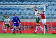 12 June 2018; Louise Quinn of Republic of Ireland clears the ball under preassure from Isabell Herlovsen of Norway during the FIFA 2019 Women's World Cup Qualifier match between Norway and Republic of Ireland at the SR-Bank Arena in Stavanger, Norway. Photo by Seb Daly/Sportsfile