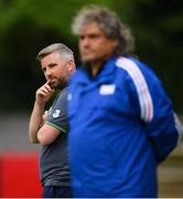 12 June 2018; Ireland head coach Greg Yelverton during the College & Universities Football League match between Ireland and France at the City Calling Stadium in Longford. Photo by Eóin Noonan/Sportsfile
