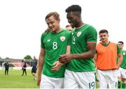 12 June 2018; Georgie Poynton, left, with team mate Carlton Ubaezuonu of Ireland following the College & Universities Football League match between Ireland and France at the City Calling Stadium in Longford. Photo by Eóin Noonan/Sportsfile