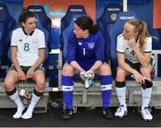 12 June 2018; Republic of Ireland players, from lft, Leanne Kiernan, Marie Hourihan and Louise Quinn following their side's defeat during the FIFA 2019 Women's World Cup Qualifier match between Norway and Republic of Ireland at the SR-Bank Arena in Stavanger, Norway. Photo by Seb Daly/Sportsfile