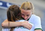 12 June 2018; Louise Quinn, right, and Katie McCabe of Republic of Ireland following their side's defeat during the FIFA 2019 Women's World Cup Qualifier match between Norway and Republic of Ireland at the SR-Bank Arena in Stavanger, Norway. Photo by Seb Daly/Sportsfile