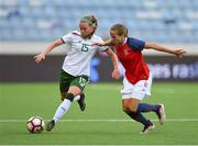 12 June 2018; Claire O'Riordan of Republic of Ireland in action against Guro Reiten of Norway during the FIFA 2019 Women's World Cup Qualifier match between Norway and Republic of Ireland at the SR-Bank Arena in Stavanger, Norway. Photo by Seb Daly/Sportsfile