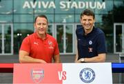 13 June 2018; Former Arsenal player Ray Parlour, and former Chelsea player Tore Andre Flo in attendance during an International Club Game Announcement which will see Arsenal play Chelsea on the 1st of August 2018 at Aviva Stadium, in Dublin.  Photo by Sam Barnes/Sportsfile