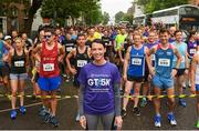 13 June 2018; Cork Camogie player and Official starter of the Grant Thornton 5k, Ashling Thompson at the start of the Grant Thornton Corporate 5K Team Challenge in Cork City, Cork. Photo by Matt Browne/Sportsfile