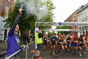 13 June 2018; Cork Camogie player and Official starter of the Grant Thornton 5k, Ashling Thompson fires the starting pistol to start the Grant Thornton Corporate 5K Team Challenge in Cork City, Cork. Photo by Matt Browne/Sportsfile