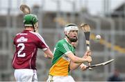 13 June 2018; Wayne Mooney of Offaly shoots under pressure from Ian O'Shea, left, and Thomas Monaghan of Galway during the Bord Gáis Energy Leinster Under 21 Hurling Championship 2018 Quarter Final match between Offaly and Galway at Bord Na Móna O'Connor Park, in Tullamore, Offaly. Photo by Piaras Ó Mídheach/Sportsfile