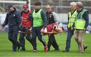 13 June 2018; Jack Grealish of Galway is lifted off the field on a stretcher after picking up an injury late in the second half during the Bord Gáis Energy Leinster Under 21 Hurling Championship 2018 Quarter Final match between Offaly and Galway at Bord Na Móna O'Connor Park, in Tullamore, Offaly. Photo by Piaras Ó Mídheach/Sportsfile