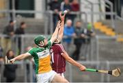 13 June 2018; Cian Salmon of Galway in action against Cathal O'Meara of Offaly during the Bord Gáis Energy Leinster Under 21 Hurling Championship 2018 Quarter Final match between Offaly and Galway at Bord Na Móna O'Connor Park, in Tullamore, Offaly. Photo by Piaras Ó Mídheach/Sportsfile