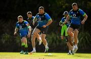 14 June 2018; Sean Cronin, centre, and Jordan Larmour, right, during Ireland rugby squad training at St Kevin's College in Melbourne, Australia. Photo by Brendan Moran/Sportsfile