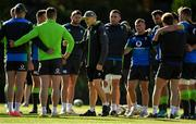 14 June 2018; Head coach Joe Schmidt speaks to his players during Ireland rugby squad training at St Kevin's College in Melbourne, Australia. Photo by Brendan Moran/Sportsfile