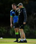 14 June 2018; Head coach Joe Schmidt with Niall Scannell, left, during Ireland rugby squad training at St Kevin's College in Melbourne, Australia. Photo by Brendan Moran/Sportsfile