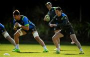 14 June 2018; Jonathan Sexton, right, and Quinn Roux during Ireland rugby squad training at St Kevin's College in Melbourne, Australia. Photo by Brendan Moran/Sportsfile