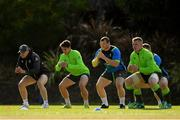 14 June 2018; Ireland players, from left, Garry Ringrose, Joey Carbery, Jack McGrath and Dan Leavy during squad training at St Kevin's College in Melbourne, Australia. Photo by Brendan Moran/Sportsfile