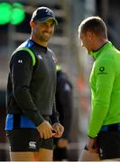14 June 2018; Rob Kearney, left, with Keith Earls during Ireland rugby squad training at St Kevin's College in Melbourne, Australia. Photo by Brendan Moran/Sportsfile