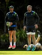 14 June 2018; Peter O'Mahony, right, and Rob Kearney during Ireland rugby squad training at St Kevin's College in Melbourne, Australia. Photo by Brendan Moran/Sportsfile