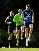 14 June 2018; Garry Ringrose, right, leads team-mates Keith Earls and Cian Healy during Ireland rugby squad training at St Kevin's College in Melbourne, Australia. Photo by Brendan Moran/Sportsfile