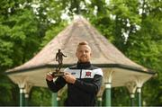 14 June 2018; Sean Hoare of Dundalk pictured with his SSE Airtricity/SWAI Player of the Month award for May at The Herbert Park Hotel, in Ballsbridge, Dublin. Photo by Piaras Ó Mídheach/Sportsfile