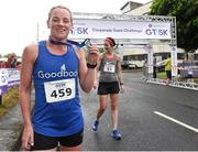 13 June 2018; Jill Hodgins of Goodbody Stockbrokers, first female finisher, after the Grant Thornton Corporate 5K Team Challenge in Cork City, Cork.  Photo by Matt Browne/Sportsfile
