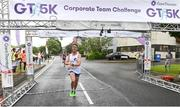 13 June 2018; Gareth McGlinchey, first male finisher, crosses the finish line of the Grant Thornton Corporate 5K Team Challenge in Cork City, Cork. Photo by Matt Browne/Sportsfile Photo by Matt Browne/Sportsfile
