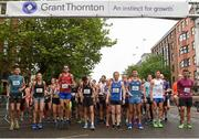 13 June 2018; Participants at the starting line of the Grant Thornton Corporate 5K Team Challenge in Cork City, Cork. Photo by Matt Browne/Sportsfile