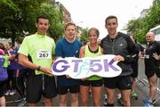 13 June 2018; Members of the Bank of Ireland team before the start of the Grant Thornton Corporate 5K Team Challenge in Cork City, Cork. Photo by Matt Browne/Sportsfile