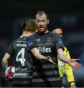 14 May 2018; Chris Sheilds of Dundalk during the SSE Airtricity League Premier Division match between Derry City and Dundalk at the Brandywell Stadium in Derry. Photo by Oliver McVeigh/Sportsfile