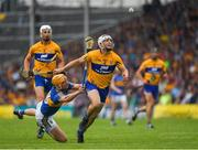 10 June 2018; Patrick O'Connor of Clare in action against Seamus Callanan of Tipperary during the Munster GAA Hurling Senior Championship Round 4 match between Tipperary and Clare at Semple Stadium in Thurles, Tipperary. Photo by Ray McManus/Sportsfile