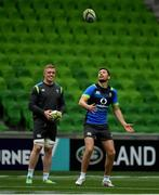 15 June 2018; Dan Leavy, left, and Ross Byrne during the Ireland rugby squad captain's run in AMMI Park in Melbourne, Australia. Photo by Brendan Moran/Sportsfile