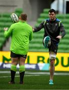 15 June 2018; James Ryan, right and Tadhg Furlong during the Ireland rugby squad captain's run in AMMI Park in Melbourne, Australia. Photo by Brendan Moran/Sportsfile