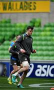 15 June 2018; James Ryan during the Ireland rugby squad captain's run in AMMI Park in Melbourne, Australia. Photo by Brendan Moran/Sportsfile