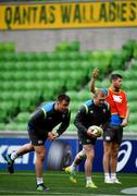 15 June 2018; Niall Scannell, left, and Keith Earls during the Ireland rugby squad captain's run in AMMI Park in Melbourne, Australia. Photo by Brendan Moran/Sportsfile