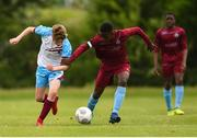 15 June 2018; Conor Bird of Drogheda in action against Ify Asugo of Galway in the Trophy Final match between Drogheda and Galway during the SFAI Kennedy Cup Finals at University of Limerick, Limerick. Photo by Tom Beary/Sportsfile