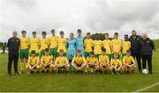 15 June 2018; The Donegal squad prior to the Cup semi-final losers match between Donegal and Cavan/Monaghan during the SFAI Kennedy Cup Finals at University of Limerick, Limerick. Photo by Tom Beary/Sportsfile