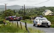 15 June 2018; Eugene Donnelly and Mark Kane in a Hyundai i20 R5 during stage 1 Breenagh of the Joule Donegal International Rally Day 1 in Letterkenny, Donegal. Photo by Philip Fitzpatrick/Sportsfile