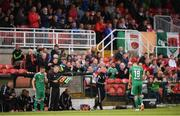 15 June 2018; Karl Sheppard of Cork City is substituted after a coming together with Shane Supple of Bohemians during the SSE Airtricity League Premier Division match between Cork City and Bohemians at Turner's Cross, Cork. Photo by Eóin Noonan/Sportsfile