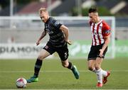 15 June 2018; Chris Sheilds of Dundalk in action against Aaron McEneff of Derry City during the SSE Airtricity League Premier Division match between Derry City and Dundalk at the Brandywell Stadium, Derry. Photo by Oliver McVeigh/Sportsfile