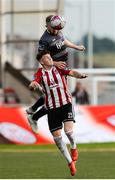15 June 2018; Seán Hoare of Dundalk in action against Ben Doherty of Derry City during the SSE Airtricity League Premier Division match between Derry City and Dundalk at the Brandywell Stadium, Derry. Photo by Oliver McVeigh/Sportsfile