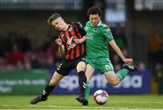 15 June 2018; Barry McNamee of Cork City in action against Paddy Kirk during the SSE Airtricity League Premier Division match between Cork City and Bohemians at Turner's Cross in Cork. Photo by Eóin Noonan/Sportsfile
