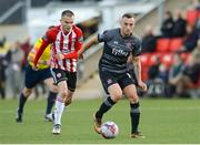 15 June 2018; Dylan Connolly of Dundalk in action against Rory Hale of Derry City during the SSE Airtricity League Premier Division match between Derry City and Dundalk at the Brandywell Stadium IN Derry. Photo by Oliver McVeigh/Sportsfile