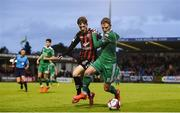 15 June 2018; Kieran Sadlier of Cork City in action against Paddy Kirk of Bohemians during the SSE Airtricity League Premier Division match between Cork City and Bohemians at Turner's Cross, Cork. Photo by Eóin Noonan/Sportsfile