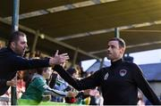 15 June 2018; Damien Delaney of Cork City shakes hands with supporters following the SSE Airtricity League Premier Division match between Cork City and Bohemians at Turner's Cross in Cork. Photo by Eóin Noonan/Sportsfile