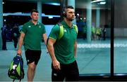 16 June 2018; Rob Kearney, right and Peter O'Mahony of Ireland arrive prior to the 2018 Mitsubishi Estate Ireland Series 2nd Test match between Australia and Ireland at AAMI Park, in Melbourne, Australia. Photo by Brendan Moran/Sportsfile