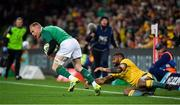 16 June 2018; Keith Earls of Ireland evades the tackle of Samu Kerevi of Australia during the 2018 Mitsubishi Estate Ireland Series 2nd Test match between Australia and Ireland at AAMI Park, in Melbourne, Australia. Photo by Brendan Moran/Sportsfile