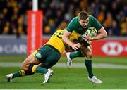 16 June 2018; Garry Ringrose of Ireland is tackled by Israel Folau of Australia during the 2018 Mitsubishi Estate Ireland Series 2nd Test match between Australia and Ireland at AAMI Park, in Melbourne, Australia. Photo by Brendan Moran/Sportsfile