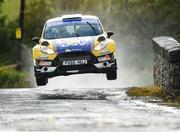 16 June 2018; Josh Moffett and Andy Hayes in a Ford Fiesta R5 during stage 8 Knockalla in the Joule Donegal International Rally Day 2 in Letterkenny, Donegal. Photo by Philip Fitzpatrick/Sportsfile