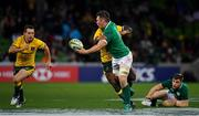 16 June 2018; Peter O'Mahony of Ireland is tackled by Marika Koroibete of Australia during the 2018 Mitsubishi Estate Ireland Series 2nd Test match between Australia and Ireland at AAMI Park, in Melbourne, Australia. Photo by Brendan Moran/Sportsfile