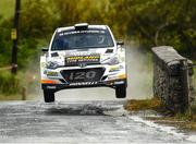 16 June 2018; Eugene Donnelly and Mark Kane in a Hyundai i20 R5 during stage 8 Knockalla of the Joule Donegal International Rally Day 2 in Letterkenny, Donegal. Photo by Philip Fitzpatrick/Sportsfile